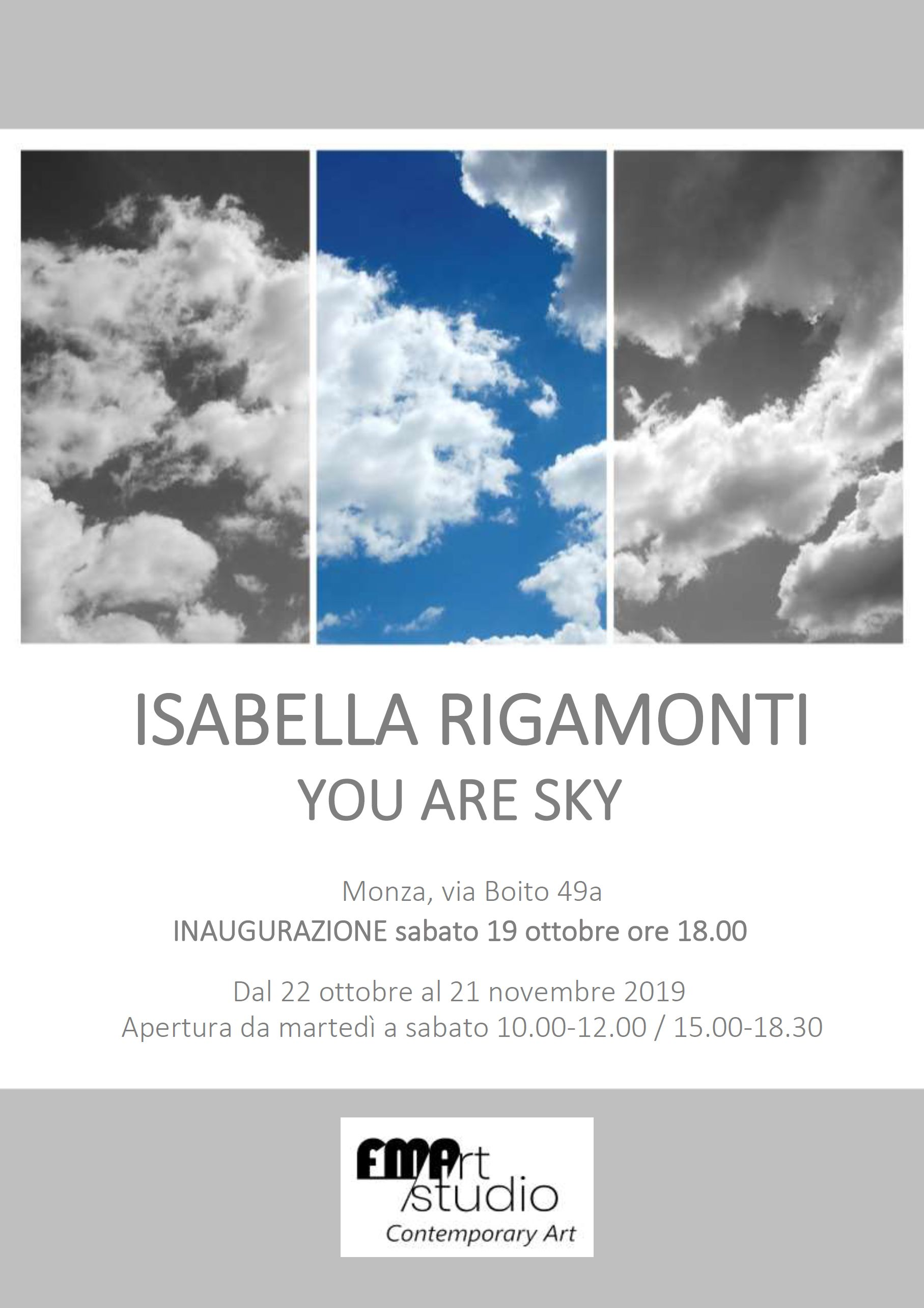 Isabella Rigamonti <br> You are sky